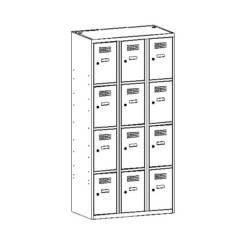 szafka metalowa skrytkowa sus334w/sus434w