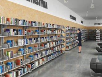 Regał biblioteczny