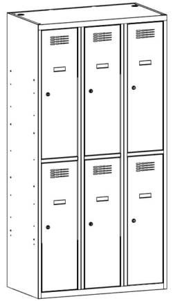 metalowa szafa skrytkowa sus332w/sus432w