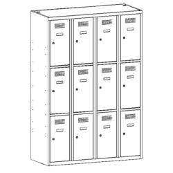 dwunastokomorowa szafa skrytkowa 343w