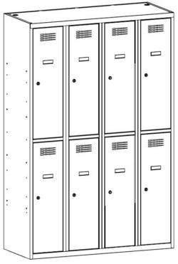 metalowa szafa szkolna sus342w