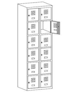 metalowa szafka skrytkowa sus326/sus426