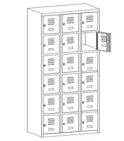 metalowa szafka szkolna sus336