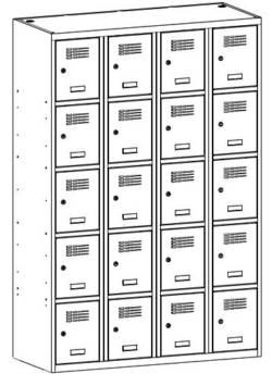 metalowa szafka szkolna sus345w