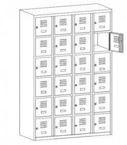 metalowa szafka szkolna Sus346