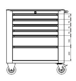 metalowy wózek warsztatowy wwt75b