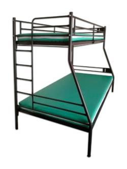 łóżko metalowe piętrowe ZLO 2WP