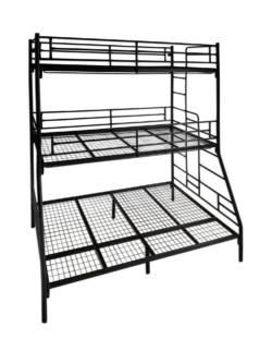 łóżko piętrowe metalowe ZLO 3P 2