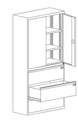 metalowa szafa aktowo-kartotekowa ksb 2